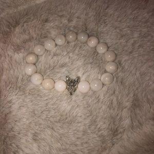 """For Ghost"" natural stone beaded bracelet"